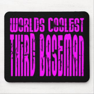 La tercera base más fresca de los mundos rosados alfombrilla de ratones
