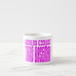 La tercera base más fresca de los mundos rosados taza de espresso