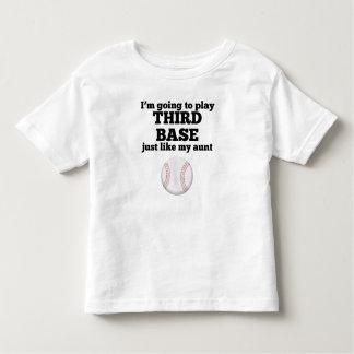 La tercera base tiene gusto de mi tía playera