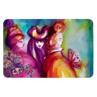 La TERCERA MÁSCARA/la bola de mascarada veneciana  Imanes