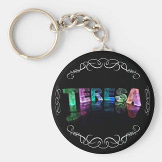 La Teresa conocida - nombre en las luces (fotograf Llavero Personalizado