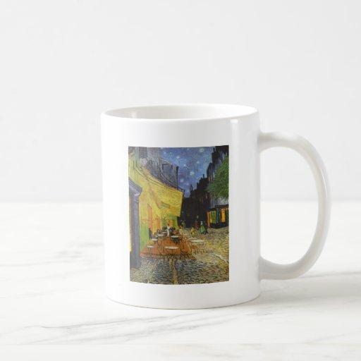La terraza del café taza básica blanca
