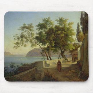 La terraza del Capucins en Sorrento, 1828 Mouse Pads