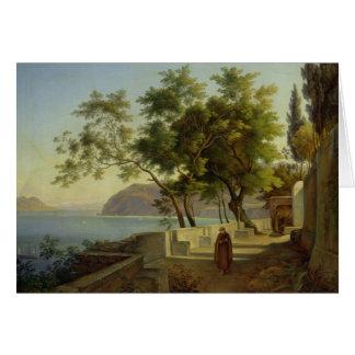 La terraza del Capucins en Sorrento, 1828 Tarjeta De Felicitación