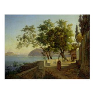 La terraza del Capucins en Sorrento, 1828 Postales