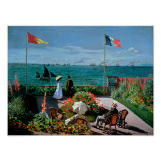 La terraza en Sainte-Adresse, 1867 Poster