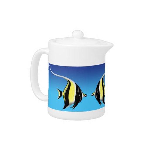 La tetera de los pescados del filón del ídolo del