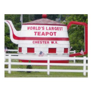 La tetera más grande del mundo postal