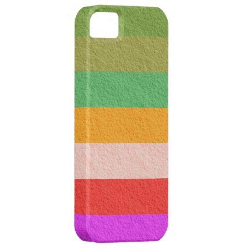La textura de la bandera del arco iris raya el fon iPhone 5 Case-Mate coberturas