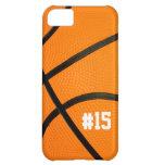 La textura del baloncesto personalizó # el caso iP