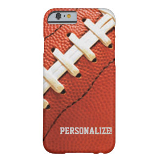 La textura del fútbol personalizó la caja del funda para iPhone 6 barely there