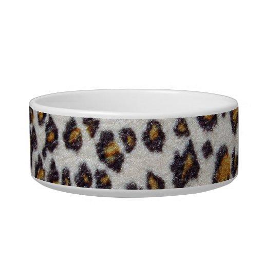 La textura del leopardo bol para gato