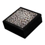 La textura del leopardo cajas de regalo