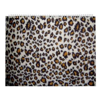 La textura del leopardo calendario