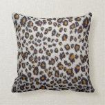 La textura del leopardo cojin