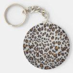 La textura del leopardo llavero personalizado