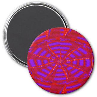 La textura púrpura roja del oro de DIY AÑADE EL Imán Redondo 7 Cm