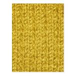 La textura que hacía punto del oro/del amarillo co postal