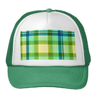 La textura verde raya hermoso gorras de camionero