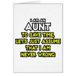 La tía… asume que nunca soy incorrecto tarjetón