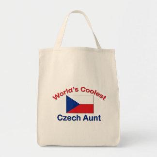 La tía checa más fresca bolsa tela para la compra