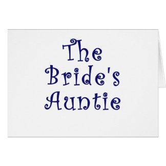 La tía de las novias tarjeta de felicitación