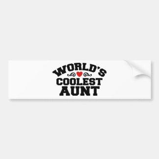 La tía más fresca del mundo pegatina para auto
