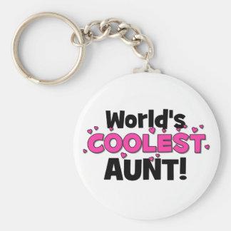 ¡La tía más fresca del mundo!  Gran regalo para tí Llaveros Personalizados