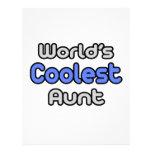 La tía más fresca del mundo membrete personalizado