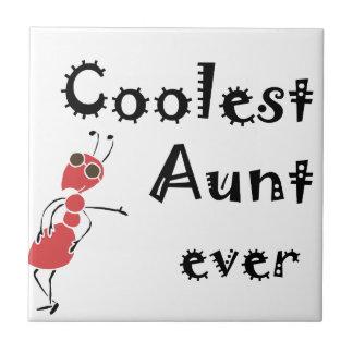 La tía más fresca Ever Art Azulejo Cuadrado Pequeño
