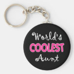 La tía más fresca Keychain del mundo Llaveros Personalizados