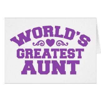 La tía más grande del mundo tarjeta de felicitación