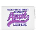 La tía más grande del mundo tarjetas