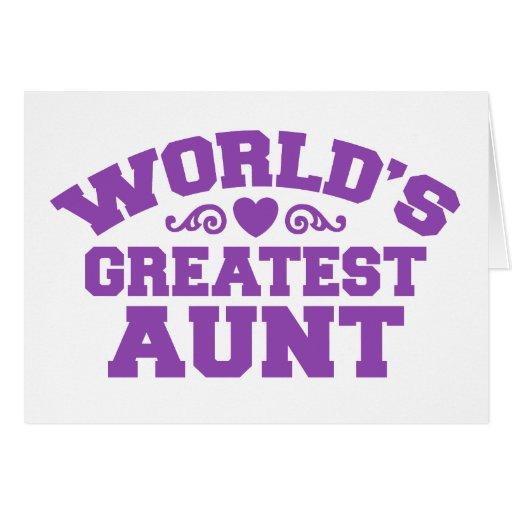 La tía más grande del mundo tarjeton