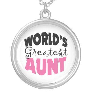 La tía más grande Necklace de los mundos Colgante Redondo