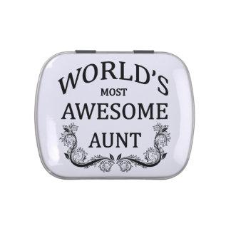 La tía más impresionante del mundo frascos de caramelos