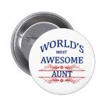 La tía más impresionante del mundo pin
