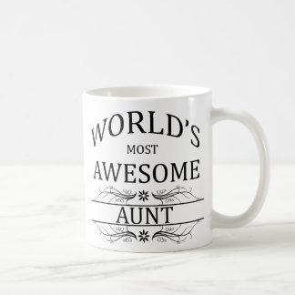 La tía más impresionante del mundo taza básica blanca