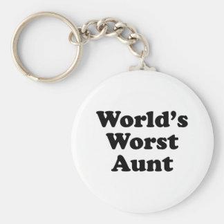 La tía peor del mundo llavero redondo tipo pin