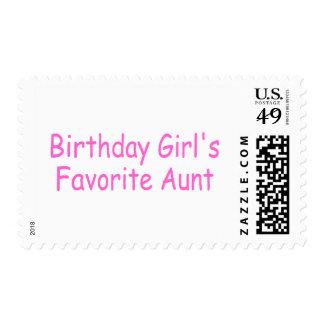 La tía preferida del chica del cumpleaños timbre postal