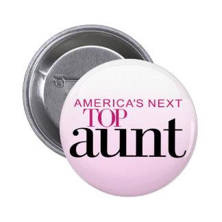 La tía superior siguiente de América Pin Redondo De 2 Pulgadas