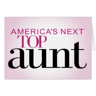 La tía superior siguiente de América Tarjeta De Felicitación