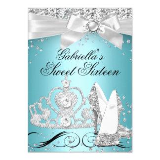 """La tiara de la chispa se inclina el dulce 16 del invitación 4.5"""" x 6.25"""""""