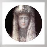La tiara de plata [corona] por Odilon hace de Poster