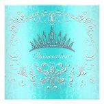 La tiara del diamante de Quinceanera del damasco d