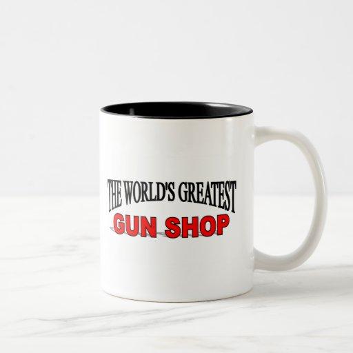 La tienda de armas más grande del mundo taza de dos tonos