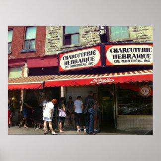La tienda de delicatessen de Schwartz, Montreal, Q Póster