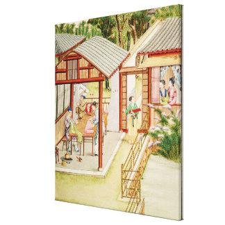 La tienda de la modista china lienzo envuelto para galerias