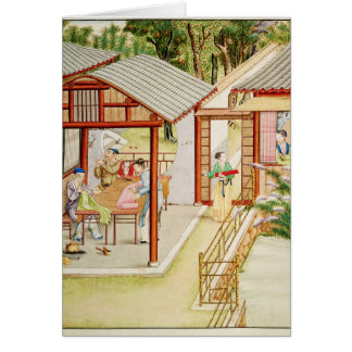 La tienda de la modista china tarjeta de felicitación