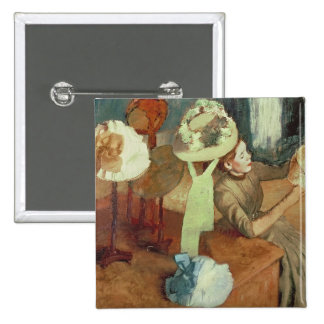La tienda de la sombrerería, 1879/86 pin cuadrada 5 cm
